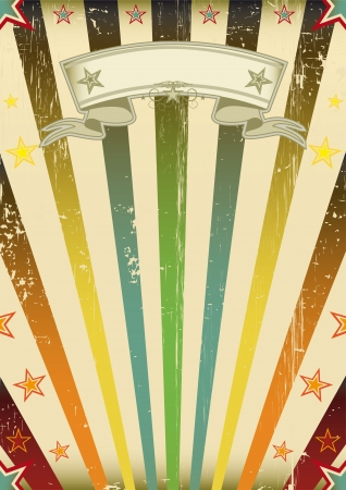 concert poster: A vintage background with a texture for your party Illustration