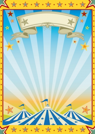 A new color circus background Vector