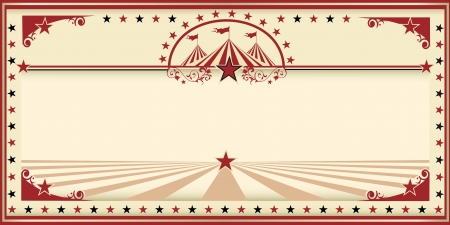 circus tent: An invitation card for your circus company