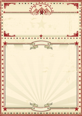 A circus vintage poster for your advertising  Enjoy Vector