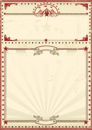 Un cartel vintage de circo para tu publicidad Disfruta
