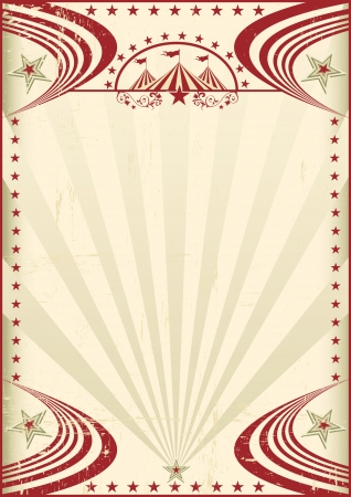 circus: Circus red vintage poster