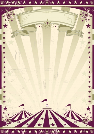 A circus retro poster for your advertising Vector