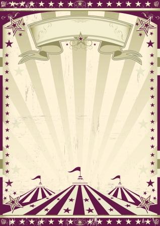 cabaret stage: Un cartel de circo retro para su publicidad Vectores