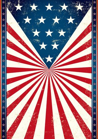 American flag in the background of this poster for you  Stock Vector - 19783887