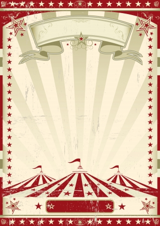 big top tent: A circus vintage poster for your advertising