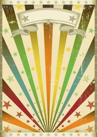 An old american vintage poster for your party Vector