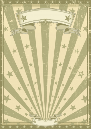 A vintage poster with a texture for you. Vector