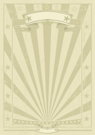A vintage poster with a texture for your publicity. Vector