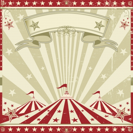 a circus vintage leaflet for your advertising Vector