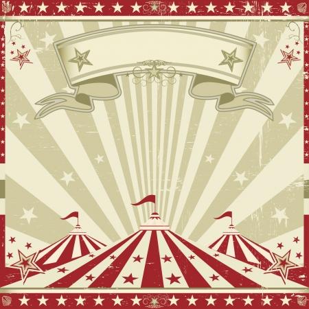 fondo de circo: un folleto del circo del vintage para su publicidad