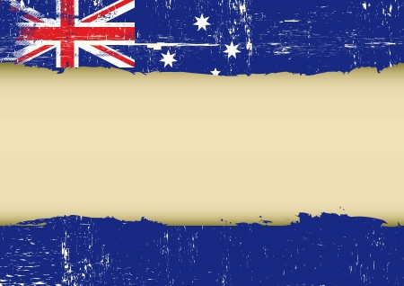 sidney: An australian flag with a large frame for your message