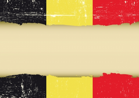 A belgian flag with a large frame for your message Stock Vector - 20007839