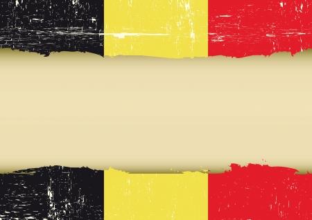 Un drapeau belge avec un grand cadre pour votre message