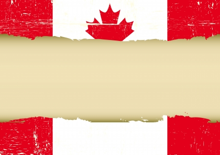 A canadian flag with a large frame for your message Stock Vector - 20007848
