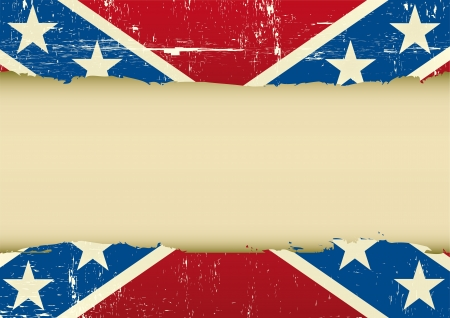 A confederate flag with a large frame for your message Vector