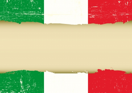 italy flag: An italian flag with a large frame for your message