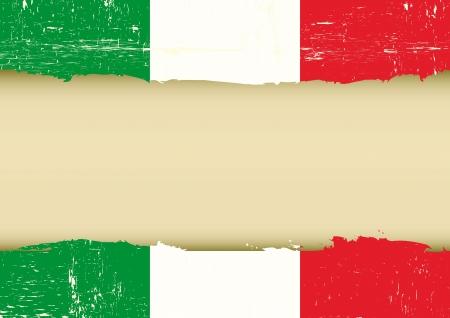 bandera italiana: Una bandera italiana con un gran marco para su mensaje