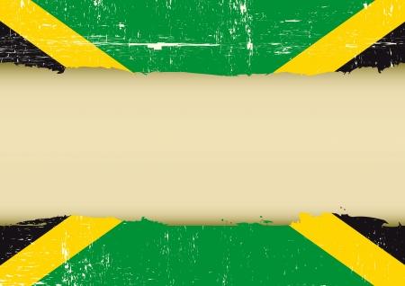 hintergrund: Eine jamaikanische Flagge mit einem großen Rahmen für Ihre Nachricht Illustration