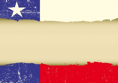 A texas flag with a large frame for your message Vector