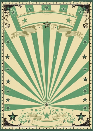 circus sign: A vintage green background for your message