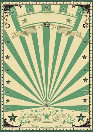 fondo de circo: Un fondo verde de cosecha para su mensaje Vectores