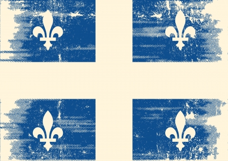 quebec: A grunge flag of Quebec with a texture Illustration