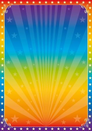 Een veelkleurige poster voor je show Stock Illustratie