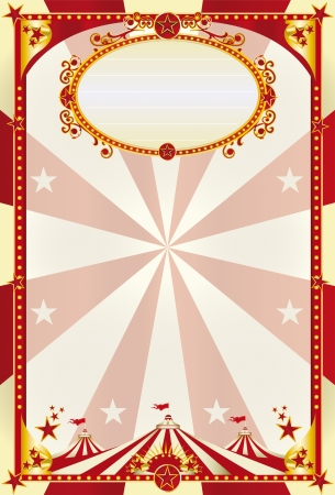 A large retro circus poster with a big top for you Illustration