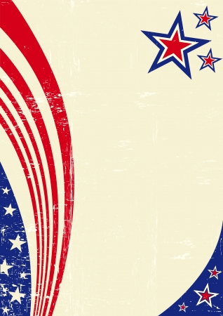 An american background for your message  Ilustrace