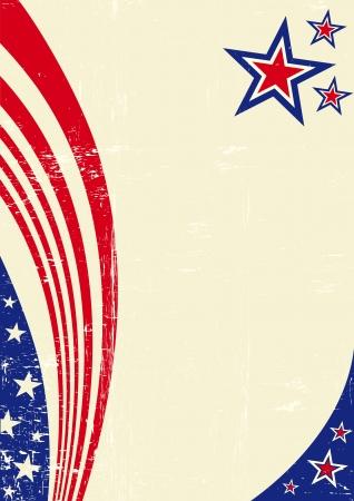 Een Amerikaanse achtergrond voor uw bericht Stock Illustratie