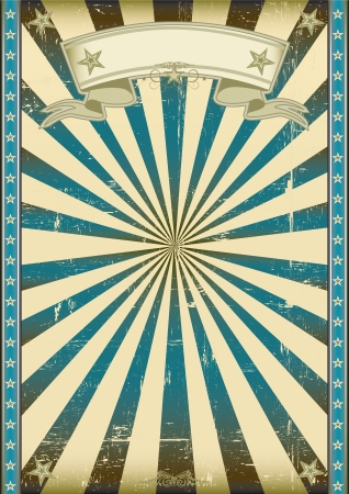 A vintage blue poster with a texture  Vector