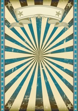 Un poster vintage blu con una trama Archivio Fotografico - 20007870