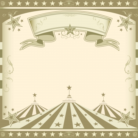 circus ticket: A retro square circus background for an invitation Illustration