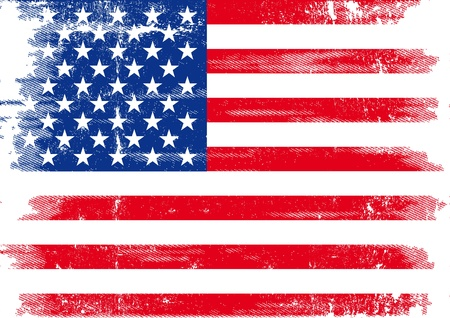 An american grunge flag for you  Vector
