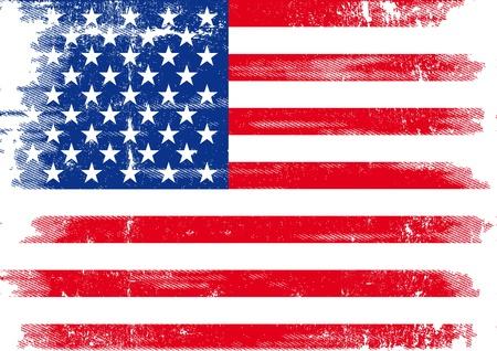 bandiera stati uniti: Un grunge bandiera americana per voi Vettoriali
