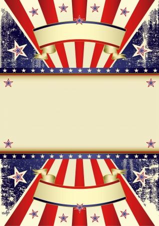 american poster: Un fondo para el cartel americano Vectores
