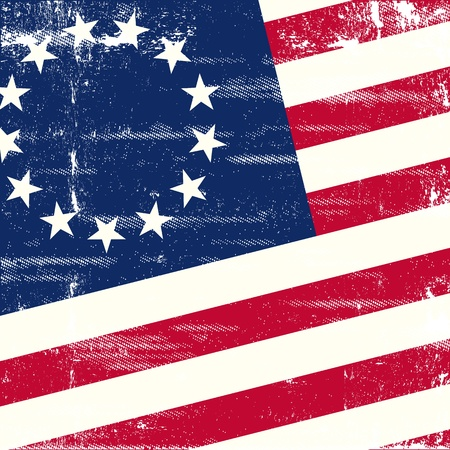 A background for a poster with a old us flag Vector