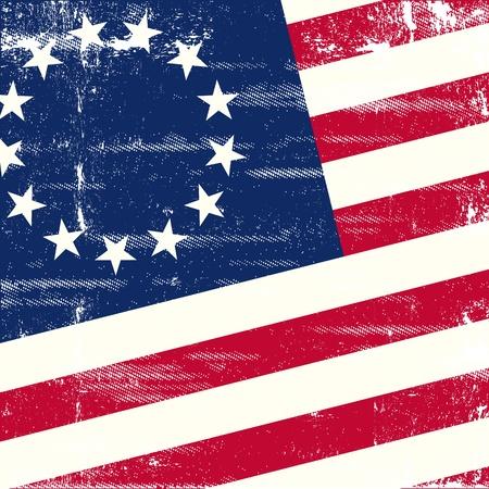 estados unidos bandera: Un fondo para un cartel con una bandera de los eeuu edad Vectores