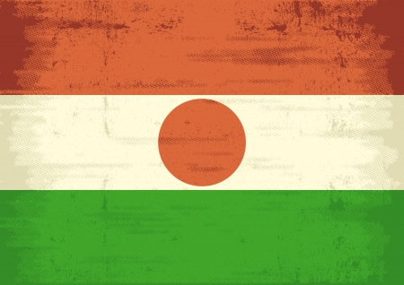 niger: A grunge flag of Niger