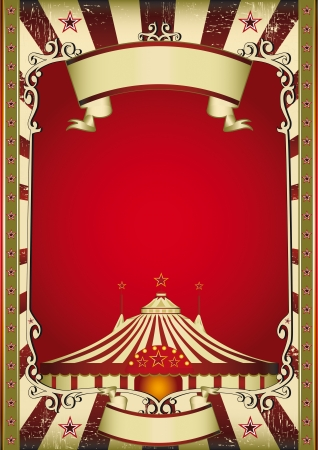 A grunge vintage poster with a circus tent Vector