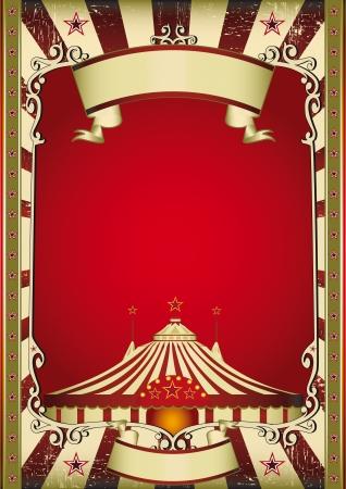 circense: Un cartel de �poca grunge con una carpa de circo Vectores