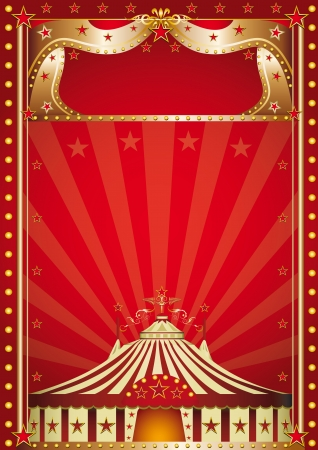 fondo de circo: Un cartel de circo para su espect�culo