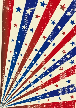 A vintage dirty tricolor background for a poster Vector