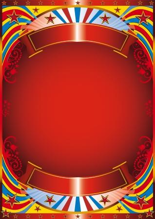 fondo de circo: Circo de fondo con un marco de floreo Vectores