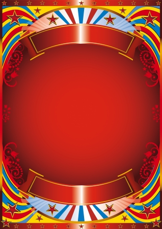 Circus background with a flourish frame