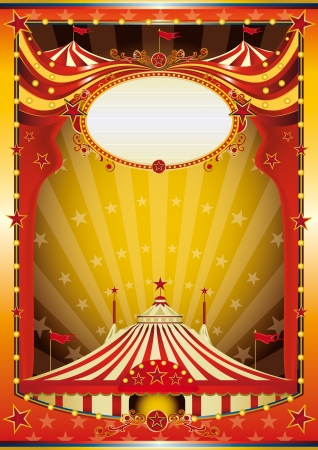 Color circus with big top for your show  Vector