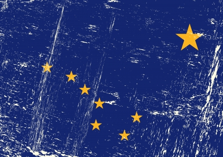 Alaska flag with a texture Stock Vector - 20272401