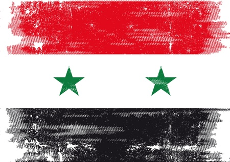 syrian: A grunge syrian flag for you Illustration