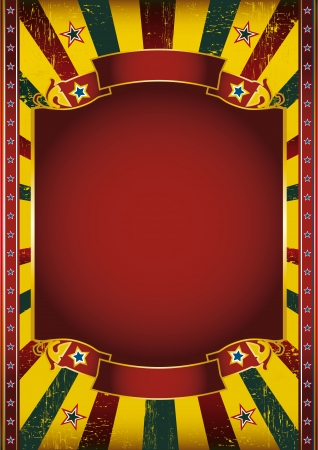 amusement park background: A colored poster with a large red frame for your message Illustration
